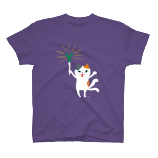 おばけTシャツ<ネギを信仰する猫又> T-Shirt