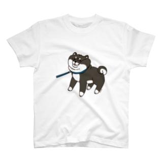 散歩から帰りたくない黒柴Tシャツ(ホワイト) Tシャツ Tシャツ