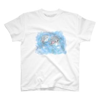 Water blue Tシャツ