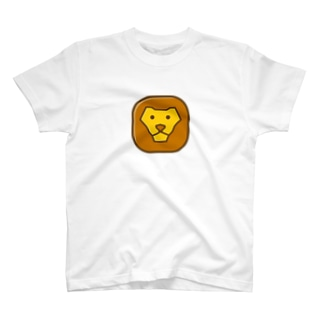 Savanna lion face Tシャツ