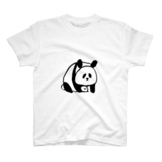 ぱんだとといす Tシャツ