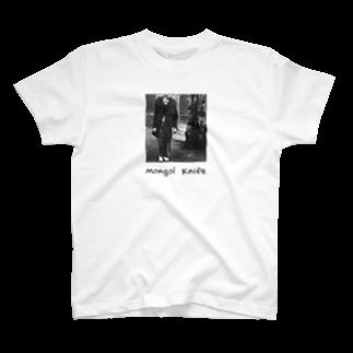 nuwtonの小顔のモンゴルナイフTシャツ
