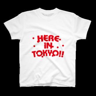 plusworksのHERE IN TOKYO!! Ver.3 Tシャツ