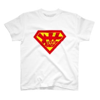 ネコスーパーマン Tシャツ