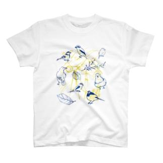 身近な野鳥 Tシャツ