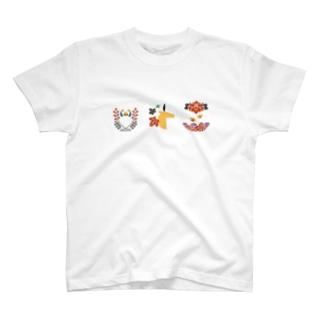 【まあるい花札】猪鹿蝶 Tシャツ