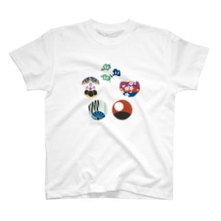 【まあるい花札】五光 Tシャツ