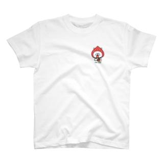 ゆるうさぎ いちご Tシャツ