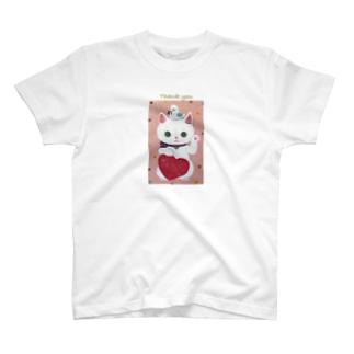 まねきねこ白2 Tシャツ