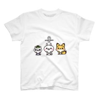 ひとえうさぎ Tシャツ
