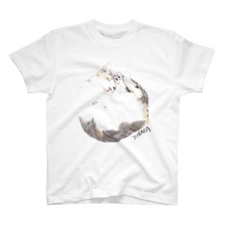 TAMAおおきめイラスト Tシャツ
