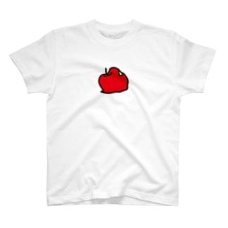 落下 リンゴ Tシャツ