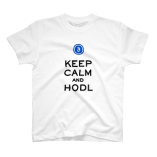 KEEP CALM and HODL Tシャツ