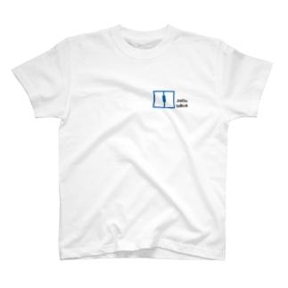 自動扉 T 白 Tシャツ