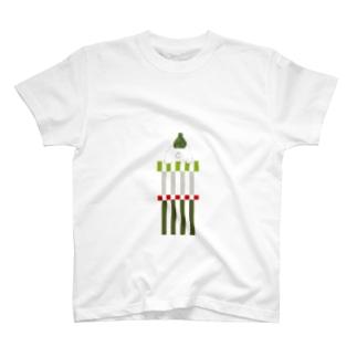 緑帽子の北国クマさん Tシャツ