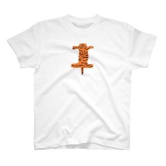 虎の敷物 Tシャツ