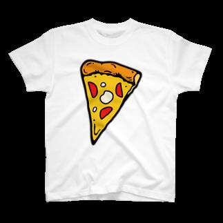 waracbeのわらしべピザ1枚目Tシャツ