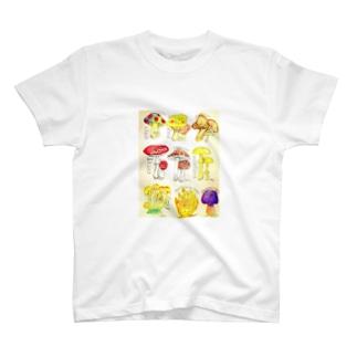 キノコ図鑑 Tシャツ