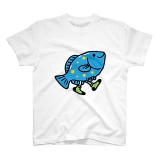 Walking Fish Tシャツ