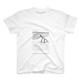 沖縄の海と流木 Tシャツ