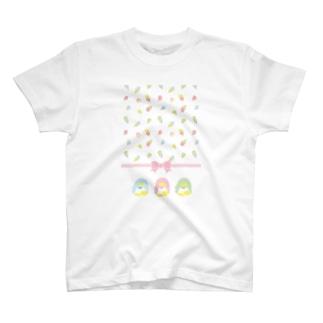 ペンギンアイスクリーム柄 Tシャツ