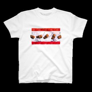 超水道のghostpia ショートスリーブTシャツ【レッドババア[Bricolage]】(5000円バージョン) Tシャツ