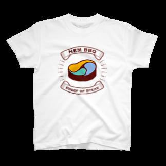 デザインオフィスbard(バード)のNEM BBQ(Proof of Steak)TシャツTシャツ