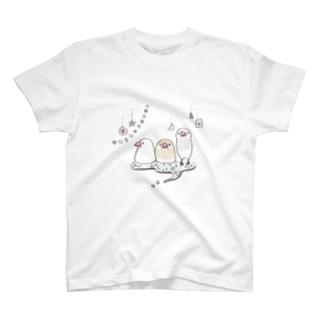 キラキラ文鳥 Tシャツ