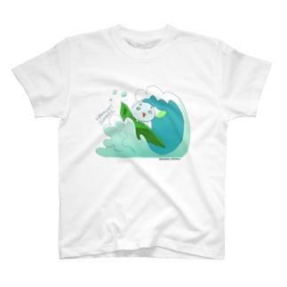【やさいぬ×サマー】波乗りはっくん Tシャツ