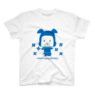 HAPPY DOG WORKS 忍者_シュリケンA Tシャツ
