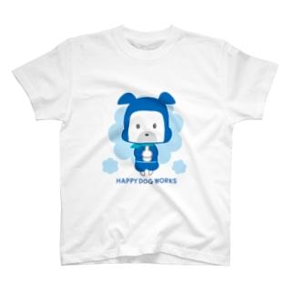 HAPPY DOG WORKS 忍者_ドロンB Tシャツ