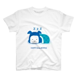 HAPPY DOG WORKS 忍者_すやすや Tシャツ
