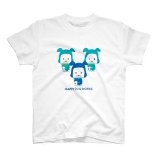 HAPPY DOG WORKS 忍者_御意 Tシャツ