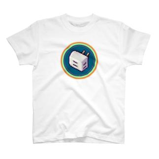 ピクセルアート-電源タップ Tシャツ