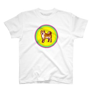 ピクセルアート-柴犬 Tシャツ