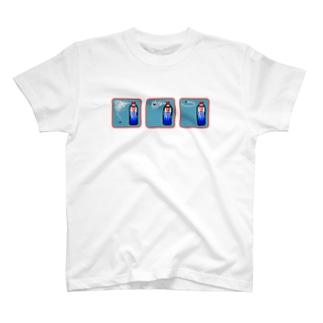 ピクセルアート-殺虫剤3コマ Tシャツ