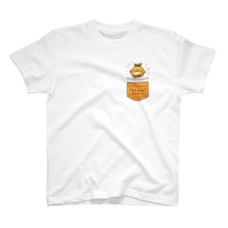 とびだすオレンジ Tシャツ