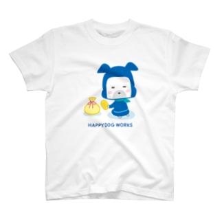 HAPPY DOG WORKS 忍者_にやり Tシャツ