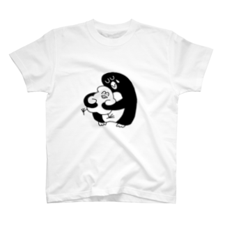 mugny shopの大きなペンギン Tシャツ