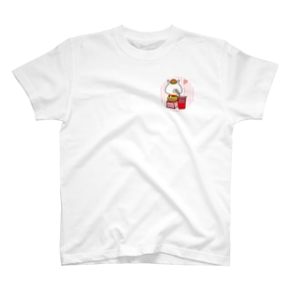 ゆるうさぎ バーガー Tシャツ