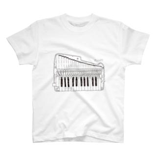 アンティーホワイト(鍵盤ハーモニカ研究所オリジナルグッズ) Tシャツ