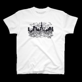 3ekiのCITY Tシャツ