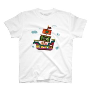 飛行船の旅 Tシャツ