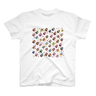 マトリョーシカいっぱい Tシャツ
