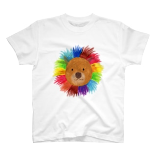 虹色ライオン Tシャツ