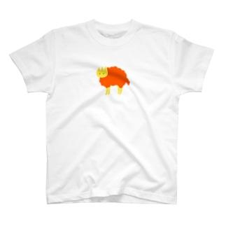 見ている orange Tシャツ