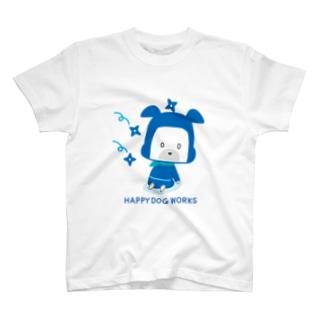 HAPPY DOG WORKS 忍者_およよ Tシャツ