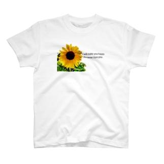 向日葵 Tシャツ