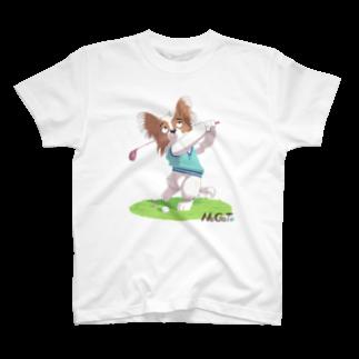 パピルスのA golfer Papillion Tシャツ