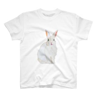 刺繍糸のうさぎ Tシャツ